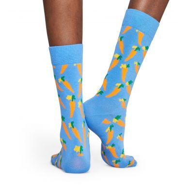 Světle modré ponožky Happy Socks s oranžovými mrkvičkami, kolekce Vitamins
