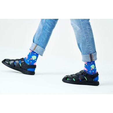 Modré ponožky Happy Socks s cukrovou vatou, vzor Cotton Candy