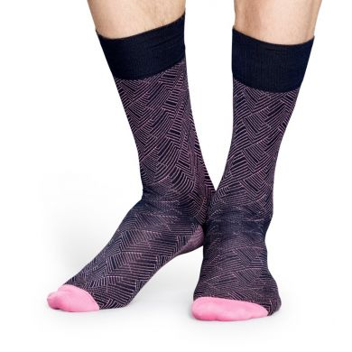 Fialové ponožky Happy Socks, vzor Circuit // kolekce Dressed