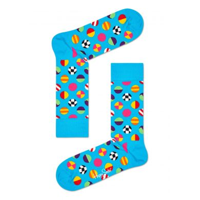 Modré ponožky Happy Socks s barevnými puntíky, vzor Clashing Dot