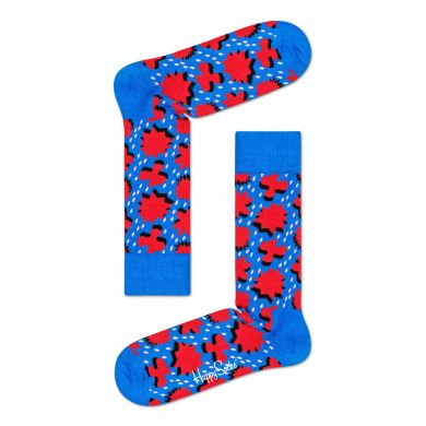 Modré ponožky Happy Socks s červeným vzorem Comic Relief