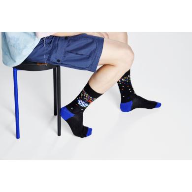 Černé ponožky Happy Socks s opicí a disko koulí, vzor Disco Monkey