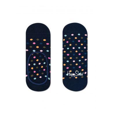 Černé nízké ponožky Happy Socks s barevnými tečkami, vzor Dot