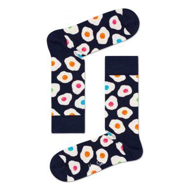 Tmavě modré ponožky Happy Socks s vajíčky, vzor Sunny Side Up