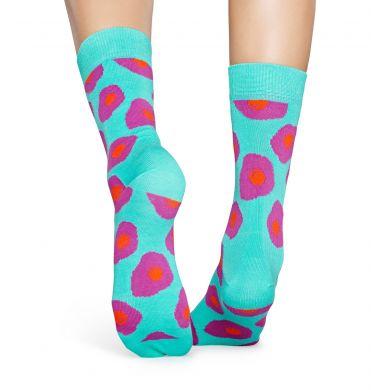 Tyrkysové ponožky Happy Socks s vajíčky, vzor Sunny Side Up