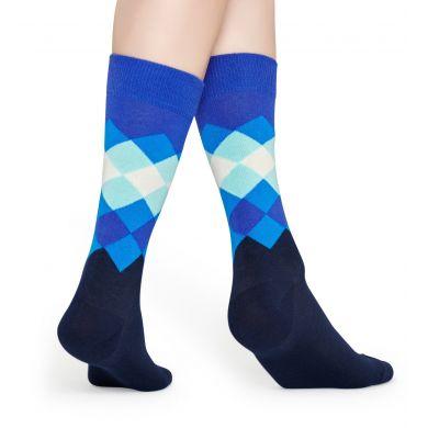 Modré ponožky Happy Socks se vzorem Faded Diamond