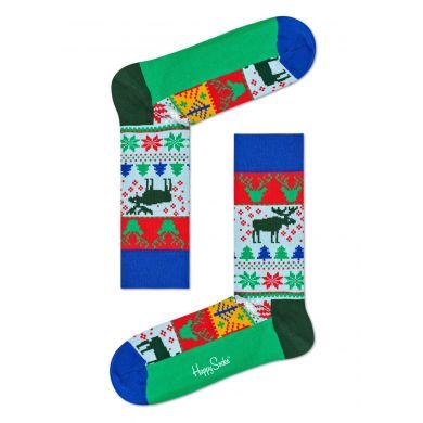 Barevné ponožky Happy Socks, vzor Fair Island