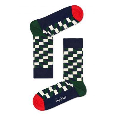 Zeleno-modré ponožky Happy Socks se vzorem Filled Optic