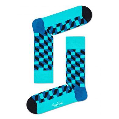 Modré ponožky Happy Socks se vzorem Filled Optic