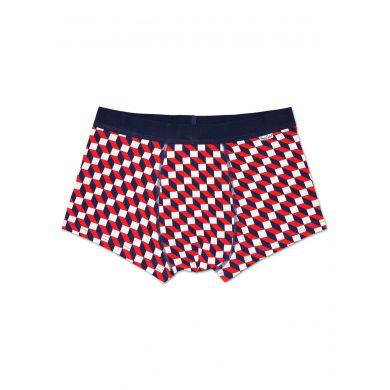 Červeno-modré boxerky Happy Socks se vzorem Filled Optic