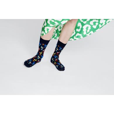 Tmavě modré ponožky Happy Socks s plameňáky, vzor Flamingo