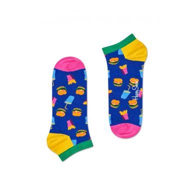 Nízké ponožky Happy Socks, vzor Hamburger (modré) - 2 páry