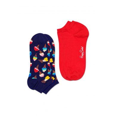 Nízké ponožky Happy Socsk, vzor Ice Cream - 2 páry