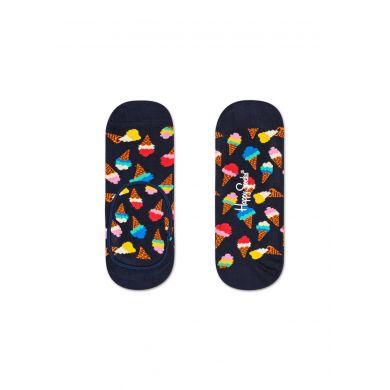 Modré nízké ponožky Happy Socks se zmrzlinami, vzor Ice Cream