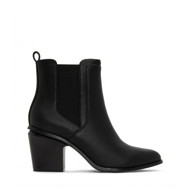 Černé dámské boty na podpatku Matt & Nat Kalista