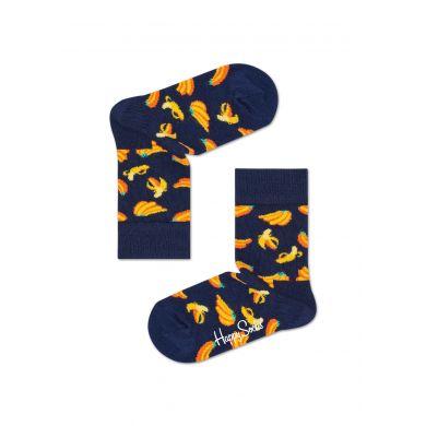 Dětské modré ponožky Happy Socks, vzor Banana