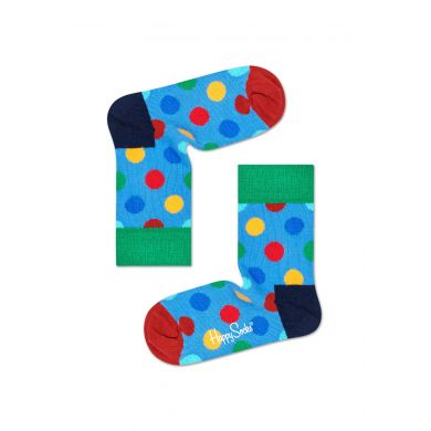 Dětské modro-červené ponožky Happy Socks, dva páry – vzory Stripe Dot a Big Dot