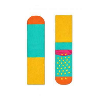 Dětské šedé protiskluzové ponožky Happy Socks, dva páry – vzor Big Dot