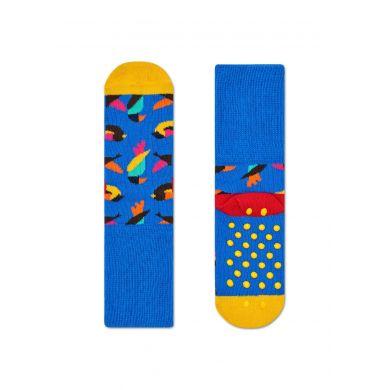 Dětské ponožky Happy Socks s barevnými ptáčky, vzor Birds (modré) - dva páry