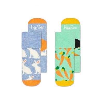 Dětské ponožky Happy Socks pro miminka, vzor Bunny - dva páry