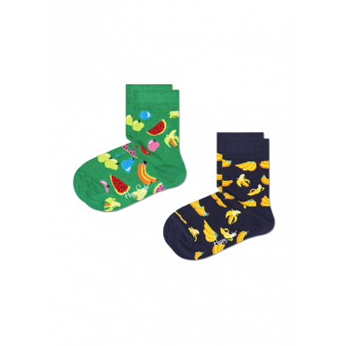 Dětské ponožky Happy Socks s ovocem, vzor Fruit - 2 páry