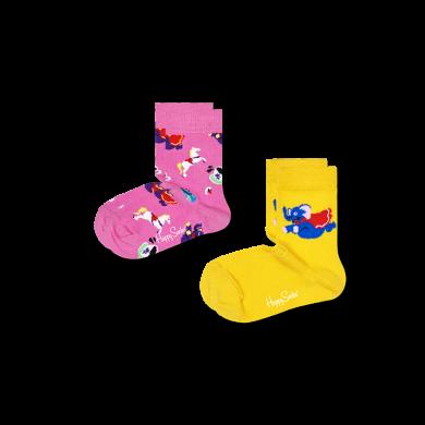 Dětské ponožky Happy Socks, vzor Fun Fair - 2 páry