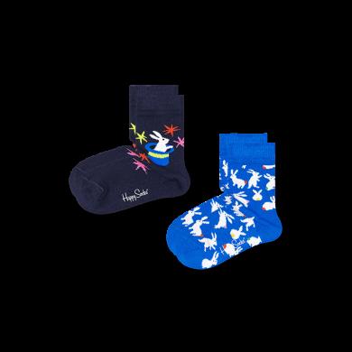 Dětské ponožky Happy Socks s králíčky, vzor Magic - 2 páry
