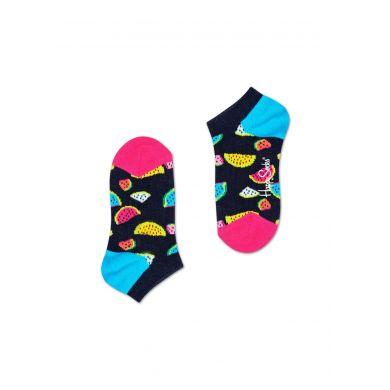 Dětské nízké modré ponožky Happy Socks s melouny, vzor Watermelon