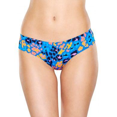 Modré cheeky kalhotky Happy Socks s leopardím vzorem, vzor Leopard