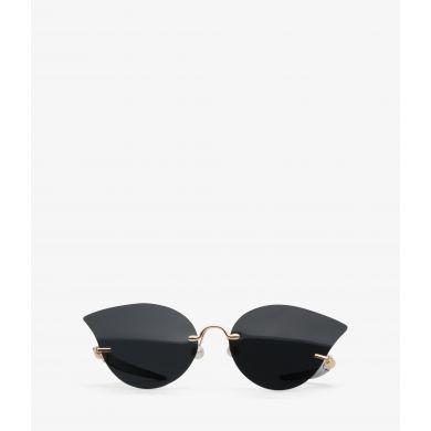 Černé sluneční brýle Matt & Nat Mai se zlatými detaily