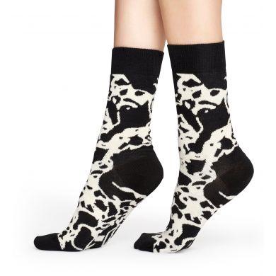 Černobílé ponožky Happy Socks s mramorovým vzorem Marble