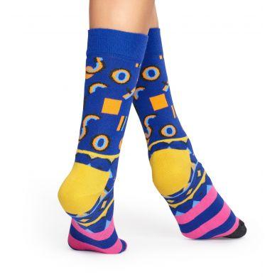 Modré ponožky Happy Socks s barevným vzorem Mix Max