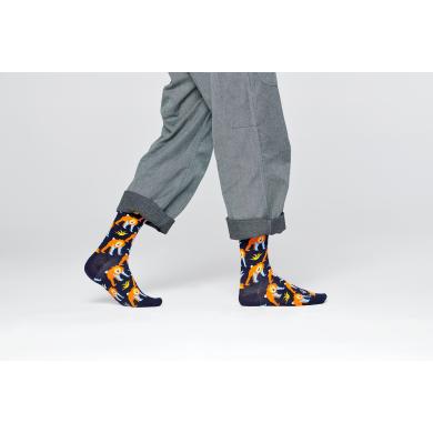 Tmavě modré ponožky Happy Socks s opicemi, vzor Monkey