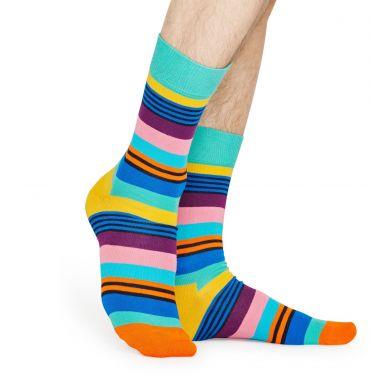 Barevné ponožky Happy Socks s pruhy, vzor Multi Stripe