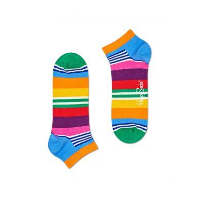 Nízké ponožky Happy Socks, vzor Multi Stripe - 2 páry