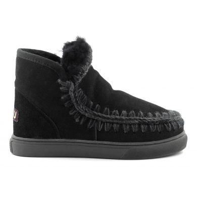 Dámské černé válenky Mou Eskimo Sneaker