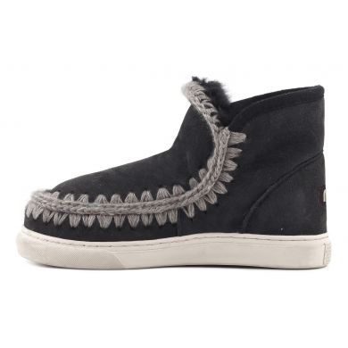 Dámské černo-šedé válenky Mou Eskimo Sneaker