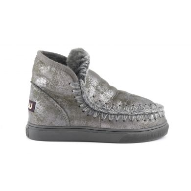 Dámské stříbrné válenky Mou Eskimo Sneaker