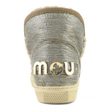 Dámské stříbrné válenky s logem Mou Eskimo Sneaker big metallic logo