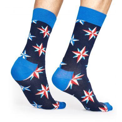 Modré ponožky Happy Socks se vzorem Nautical Star