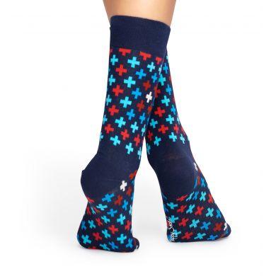 Modré ponožky Happy Socks s barevným vzorem Plus