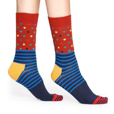 Barevné (modro-oranžové) ponožky Happy Socks s barevným vzorem Stripe Dot