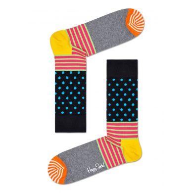 Barevné ponožky Happy Socks s puntíky a proužky, vzor Stripe And Dot