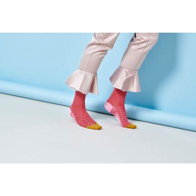 Dámské růžové ponožky Happy Socks Alma // kolekce Hysteria