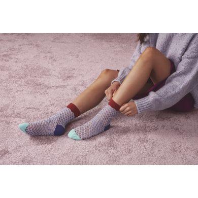 Dámské fialové ponožky Happy Socks Cesca // kolekce Hysteria