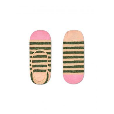 Dámské oranžovo-zelené vykrojené ponožky Happy Socks Claudia, dvojbalení // kolekce Hysteria