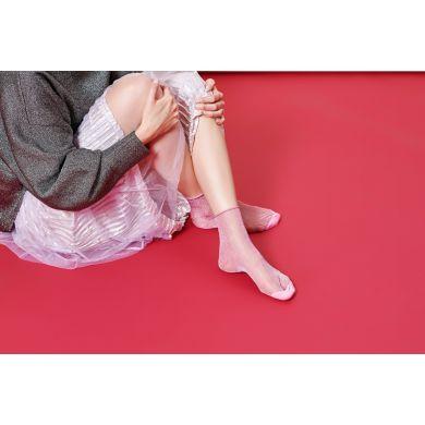 Dámské růžové ponožky Happy Socks Emma // kolekce Hysteria