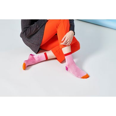 Dámské růžové ponožky Happy Socks Grace I // kolekce Hysteria