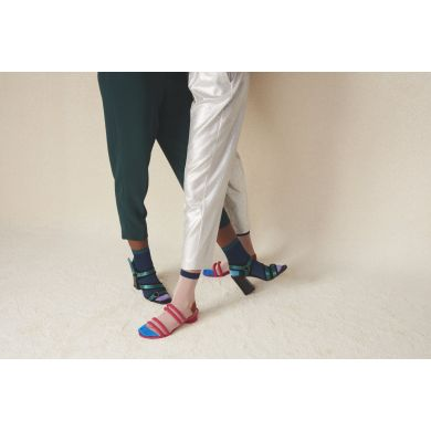 Dámské modré ponožky Happy Socks Grace // kolekce Hysteria