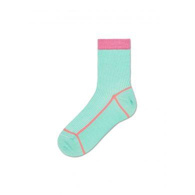 Dámské tyrkysové ponožky Happy Socks Lily // kolekce Hysteria